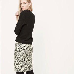 LOFT Snow Leopard/Cheetah Skirt - Size 4